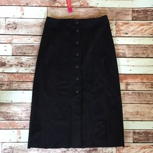 Catherine Malandrino Midi Skirt Size 2 faux suede